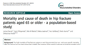 Mortality and cause of death in hip fracture patients aged 65 or older - a population-based study