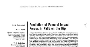 Prediction of Femoral Impact Forces in Falls on the Hip