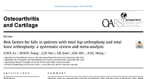 Risk factors for falls in patients with total hip arthroplasty and total knee arthroplasty: a systematic review and meta-analysis