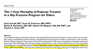 The 1-Year Mortality of Patients Treated in a Hip Fracture Program for Elders